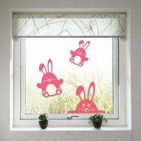 Velikonoční dekorace na okno - Zajíčci