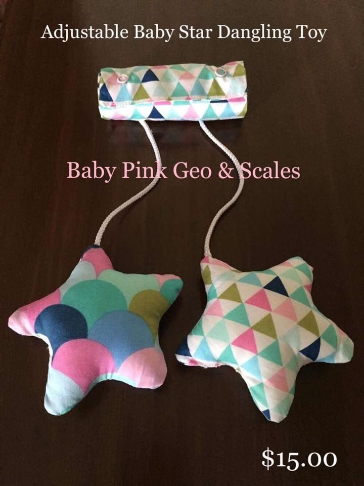 Image of Adjustable Baby Star Dangling Toy - Pink Design