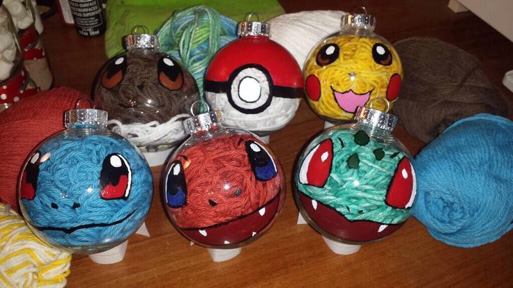 Home made pokemon ornaments
