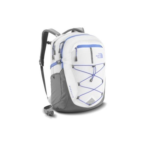 The North Face Borealis Backpack ($89) ❤ liked on Polyvore featuring bags, backpacks, white, mesh backpack, backpack bags, day pack backpack, padded bag and white bag