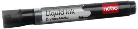 12 Liquid Ink White Board Marker Pens In Black