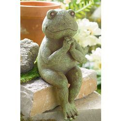 A Cute Frog Statue   Monsieur Thibault Praying Frog