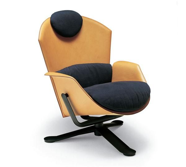 YPSILON Is A Lounge Chair. Seat And Back Frame Covered With Coach Hide,  Cushions