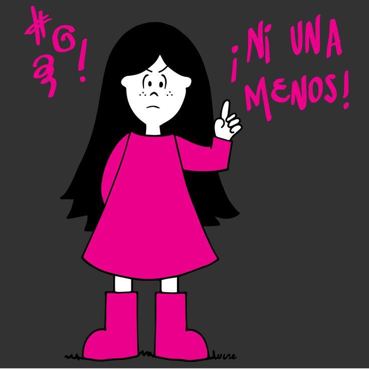 Lux Ni UNA menos.   #lux #muñeca #pink #doll #niunamenos #mad #enojada #ilustration #ilustracion ver mas en FB: lux la muñeca