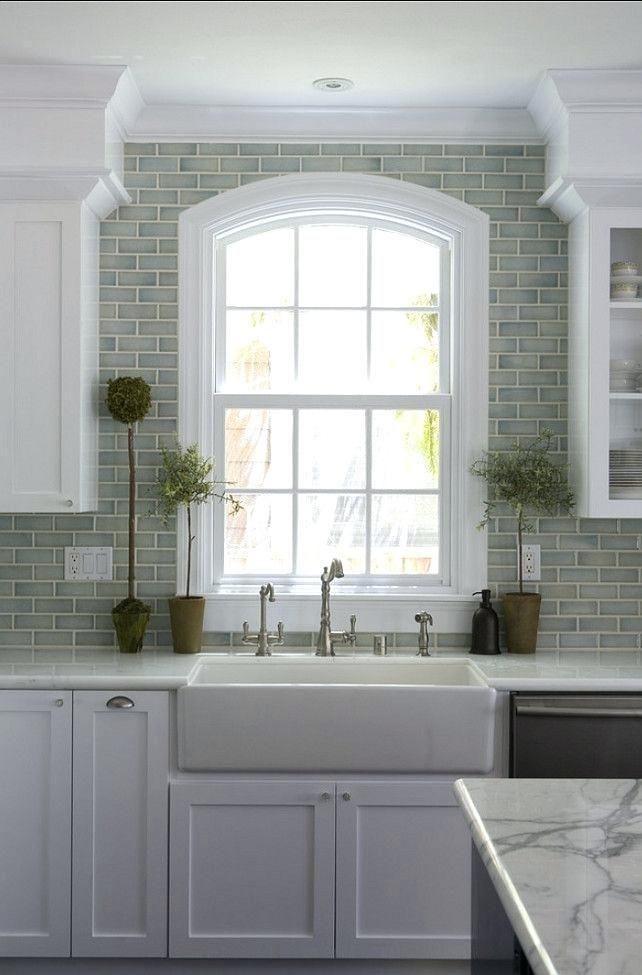 White Subway Tile Around Kitchen Window Glass Kitchen Design Kitchen Interior Kitchen Remodel