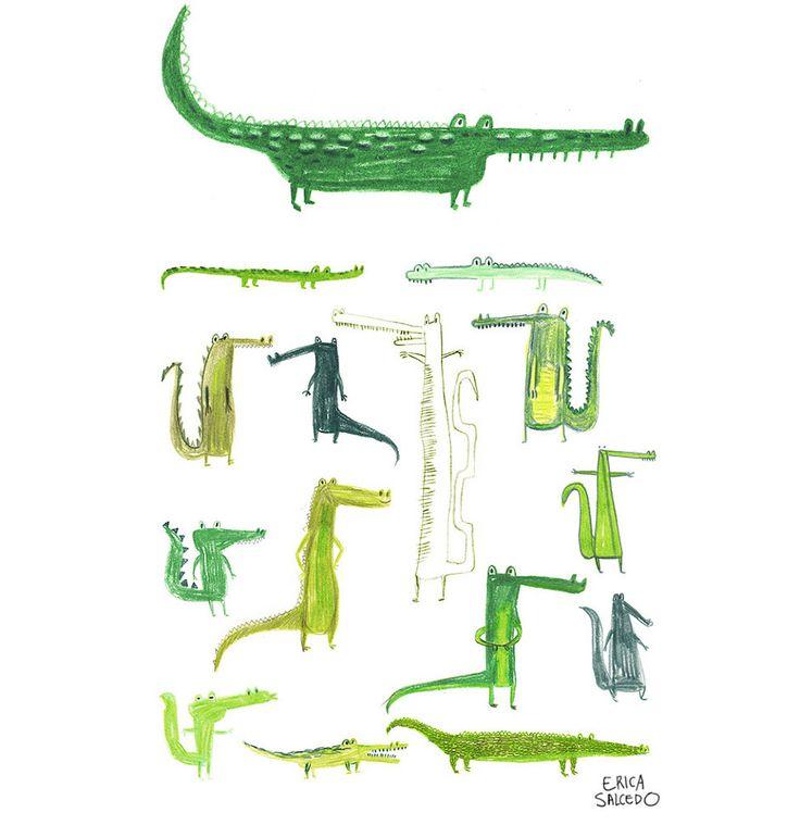 Crocodiles - Erica Salcedo Illustration potfolio