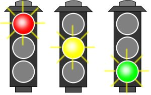 Traffic Light (RYG) by @algotruneman, Icon-ized traffic light with each light emphasized