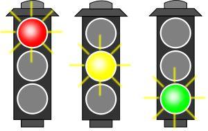 Traffic Light (RYG) by @algotruneman, Icon-ized traffic light with each light emphasized