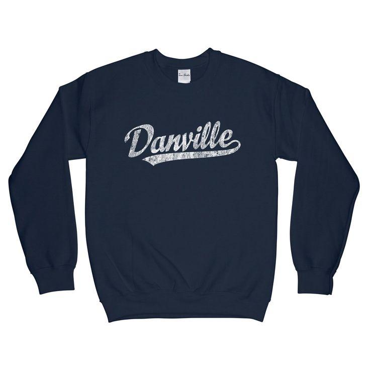 Danville Virginia... is now available at JimShorts.com. Check it out here http://jimshorts.com/products/danville-virginia-va-sweatshirt-baseball-script-white-adult-unisex?utm_campaign=social_autopilot&utm_source=pin&utm_medium=pin