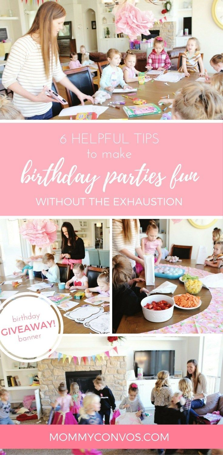 Helpful tips for kids birthday parties. Fun birthday party ideas. Easy tips for birthday parties. Reusable birthday banner.