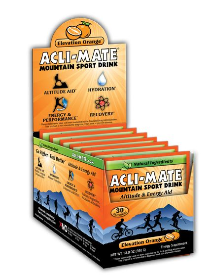Acli-Mate Mountain Sport Drink, Elevation Orange: Altitude and Energy Aid