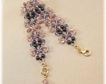 Mezcla azul marino brazalete pulsera Marina perlas de