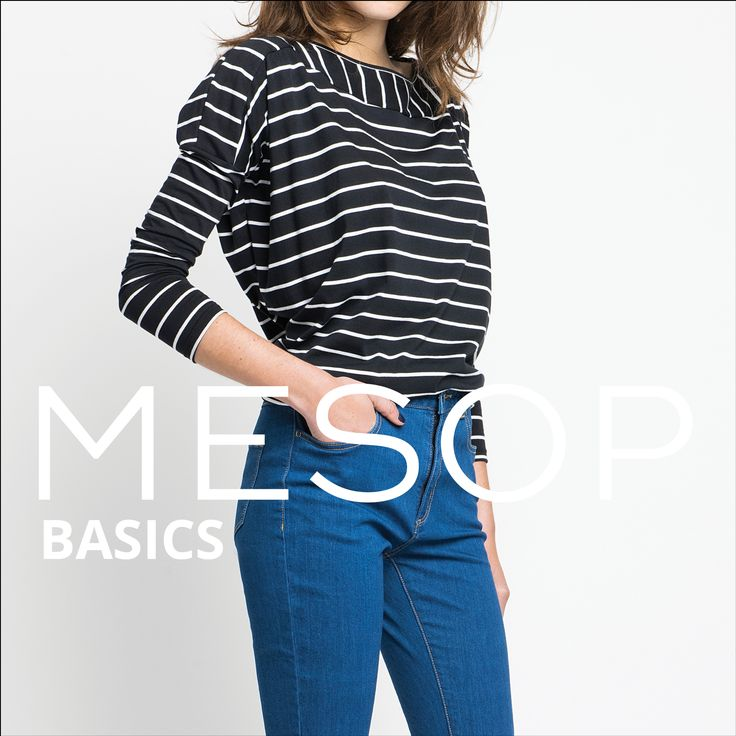 Mesop Basics Organic Cotton Boat Neck Top & Mid Blue Skinny Jean | Autumn 2016 Collection 'Elemental www.mesop.com