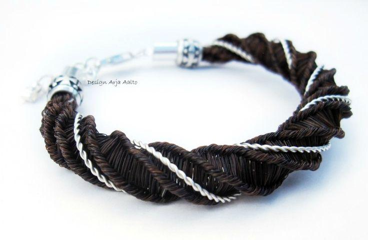 Horsehair bracelet. Horsehair & Sterling Silver