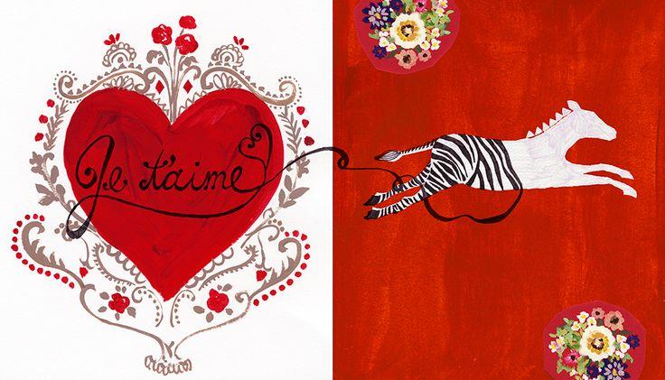 #valentain #バレンタイン #animal #frame #枠 #動物 #広告 #花 #flower #デザイン #お洒落 #可愛い #線画 #コラージュ #collage #illustration #kanakobayashi #art #illust #card
