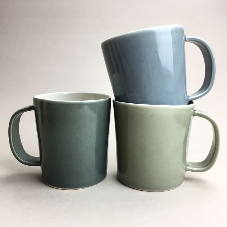 thunder, dusk, and slate grey mugs from gleena