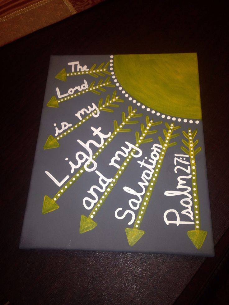 Canvas painting bible verse psalm 27:1 sunshine