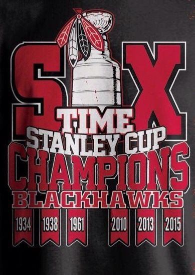 SIX TIME STANLEY CUP CHAMPIONS BLACKHAWKS