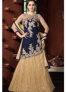 georgette bleu costume Anarkali, - 190,00 €, #Tenueindienne #Tenuepakistanaise #Tenuebollywood #Shopkund