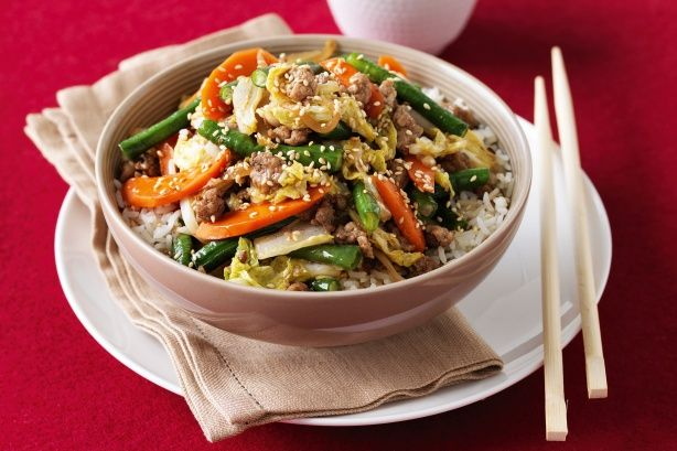 Cooking with a little less meat makes meals healthier, packed with veges and delicious!