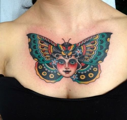 36 Amazing Chest Tattoos For Women And Girls (31