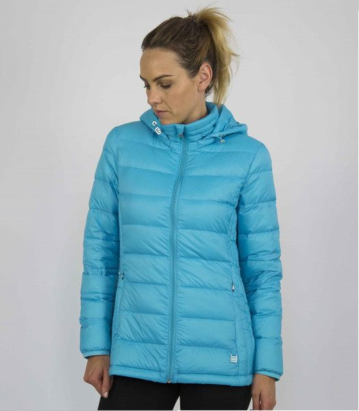 Moke Hooded Quilted Packable Jacket - Moke Blue – Sally Anne