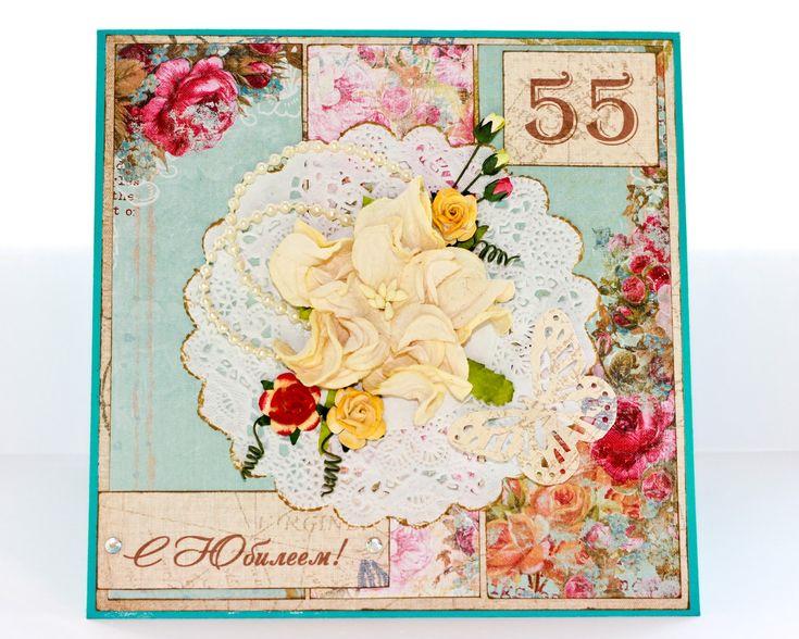 Ручные открытки к юбилею, как открытку