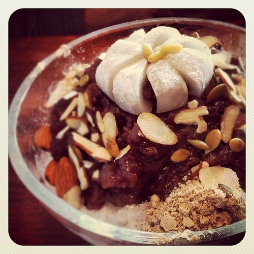 Patbingsu in Jeonju (at 차와(Cha-wa))