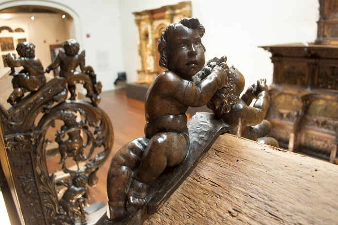 Sillería de San Benito el Real. Andrés de Nájera. Siglo XVI.   Exposición permanente, salas 6 y 7