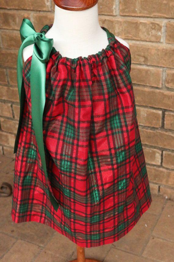 Jitterbug Kids Couture  https://www.etsy.com/listing/250610994/toddler-girls-christmas-dress-plaid?ref=shop_home_active_5 Toddler Girls  Christmas Dress -  Plaid Christmas  Dress  - size 4T - Special Occasion Dress - Christmas Pillowcase Dress