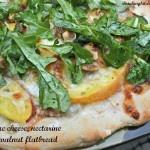 Blue Cheese, Nectarine and Walnut Flatbread - Shrinking Kitchen