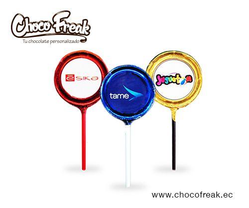 Paletas de chocolate personalizadas con tu logo, regalos corporativos Ecuador. Chocolates personalizados Ecuador. #chocolates #personalizados #promocionales #ecuador #regalos #corporativos #empresariales