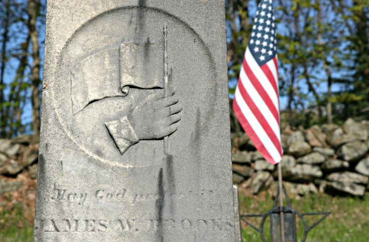 """James Brooks, a private in the 16th Connecticut, """"celebrated"""" his 19th birthday in the German Reformed Church in Sharpsburg, where he lay recovering from six wounds he suffered at Antietam. He died nearly a month after the battle and is buried in Moose Meadow Cemetery in Willington, Conn."""