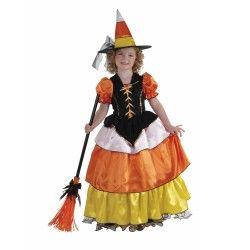 Child Candy Corn Witch Costume M