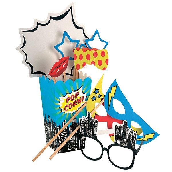 Pop Art Superhero Party Pop Art Party - Photo Booth Props £7.49 each