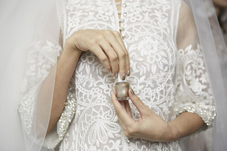 Radiance tinged with gold - essie nail inspo for your wedding day!   DBP, Toluene and Formaldehyde free.    For the full essie range, head to: www.essie.com.au