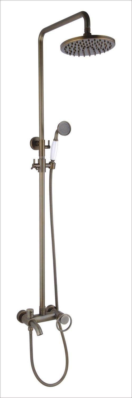 "Free shipping Antique brass bathroom raining shower set with 8""inch brass shower head 12067"