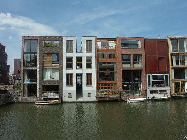 Amsterdam Wohnen am Wasser wurde in Niederlande