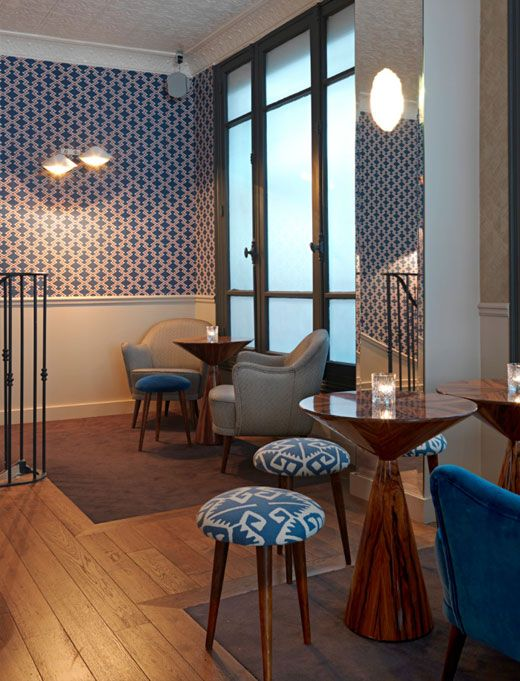 Fish Club designed by Chzon is the newest hip place in Paris.