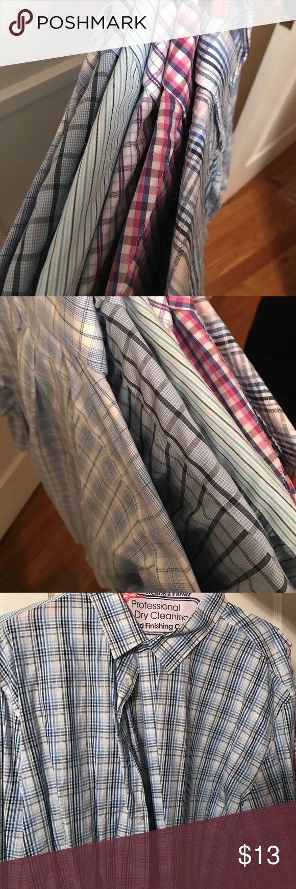 Bundle of men's dress shirts! 17x34 6 shirts Kirkland brand slim fit dress shirts.  Bundle of 6!  All perfect condition, very lightly worn. One is CK One XL.  Rest are Kirkland. Each is $13. kirkland Shirts Dress Shirts