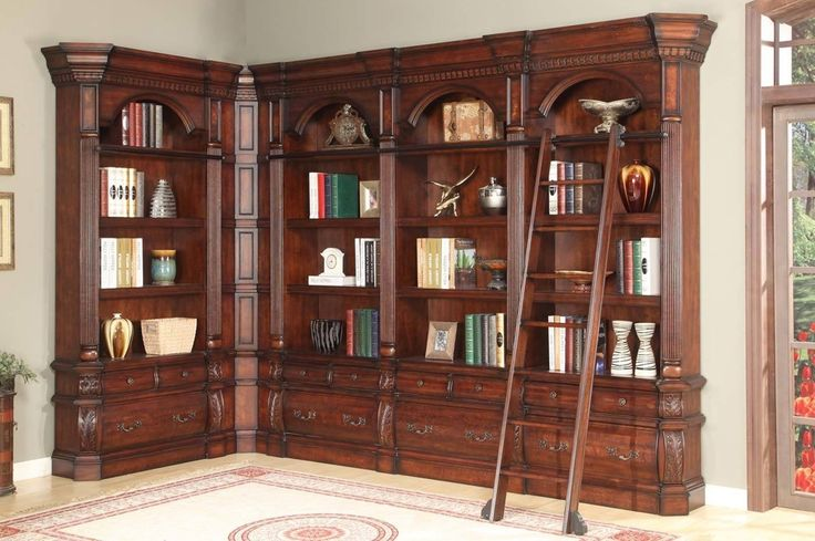 Wooden Library Furniture ~ Best images about wood bookcase on pinterest log