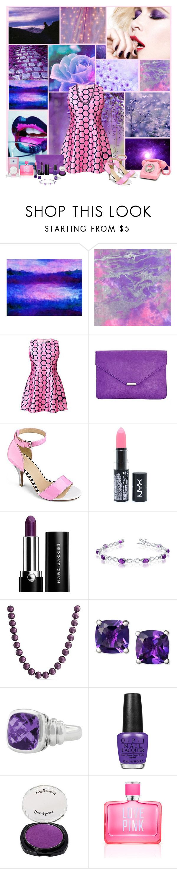 """""""39"""" by plus-uk ❤ liked on Polyvore featuring Universal Lighting and Decor, AX Paris, NYX, Marc Jacobs, Allurez, Bling Jewelry, Effy Jewelry, OPI, CO and Victoria's Secret PINK"""