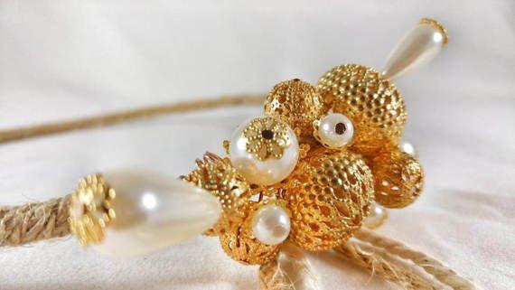 Wedding Crowns Stefana ''Summer Gold''/ Greek Crowns by LakaLuka