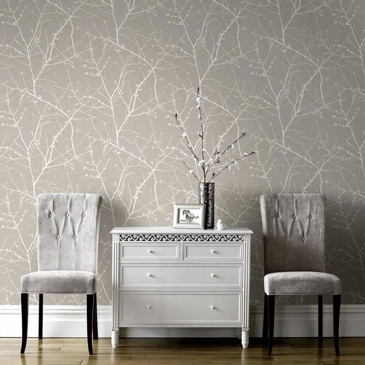 Metallic wallpaper with trees nature pattern. 17 Best ideas about Living Room Wallpaper on Pinterest   Living
