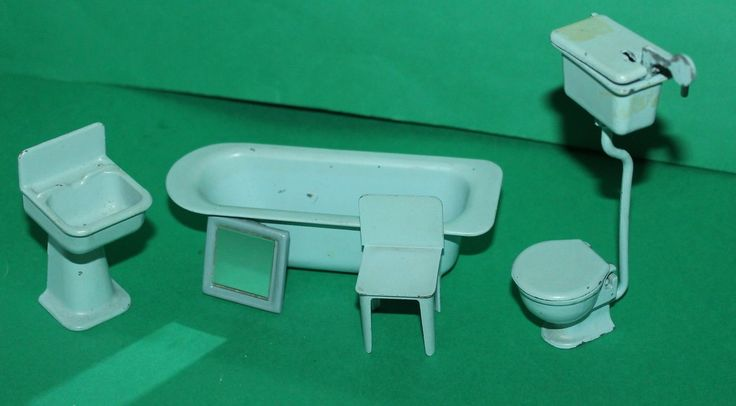 Vintage Dolls House Metal Bathroom Suite Ref KM1229 | eBay