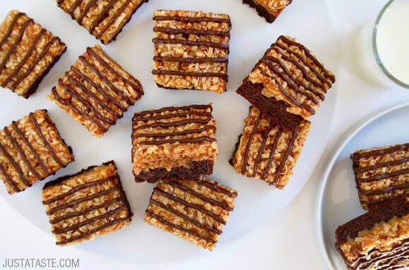 Samoas Coconut Caramel Brownies Recipe