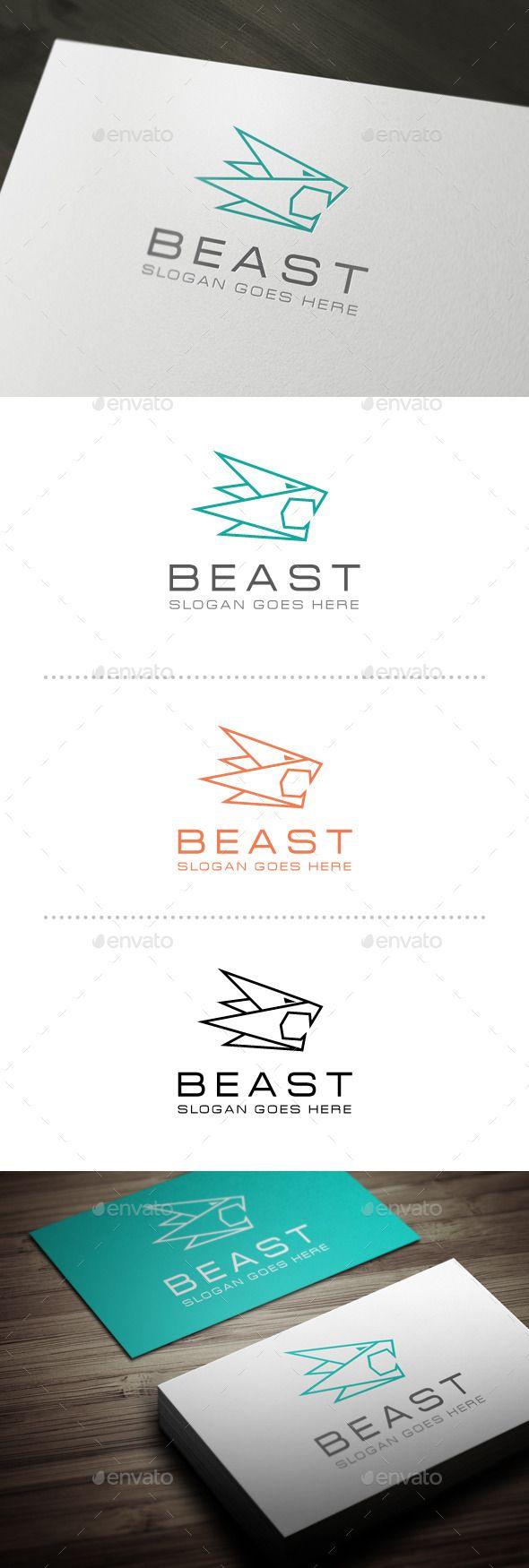 #Beast #logo #Template #animals #design #logotype