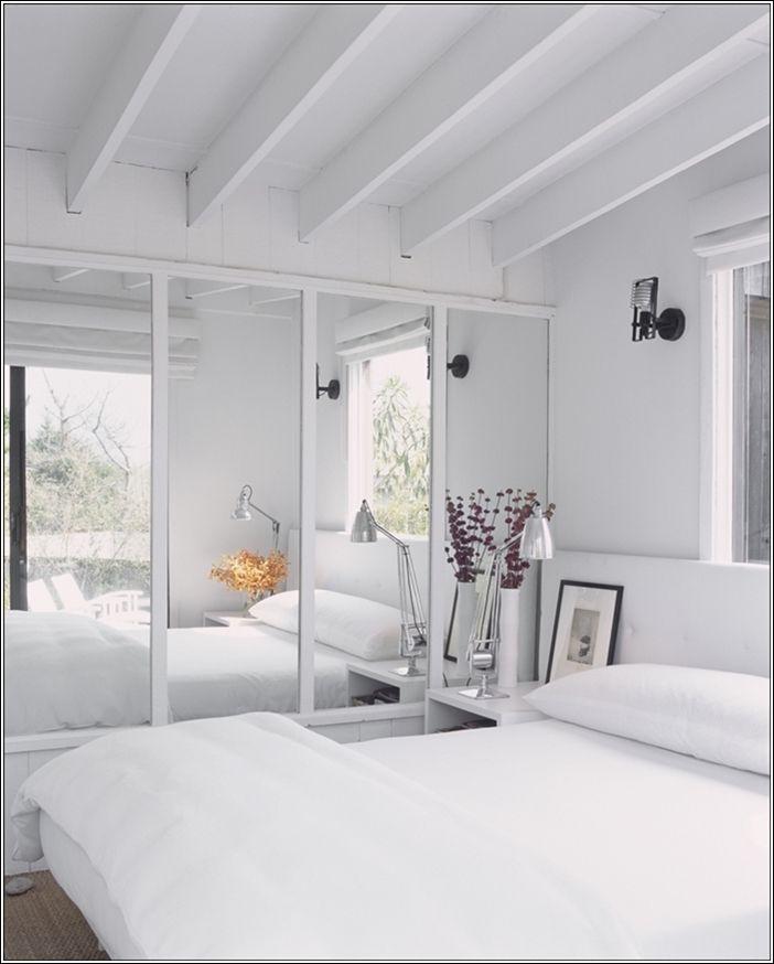 mirror wall brightens room Fire Island Residence