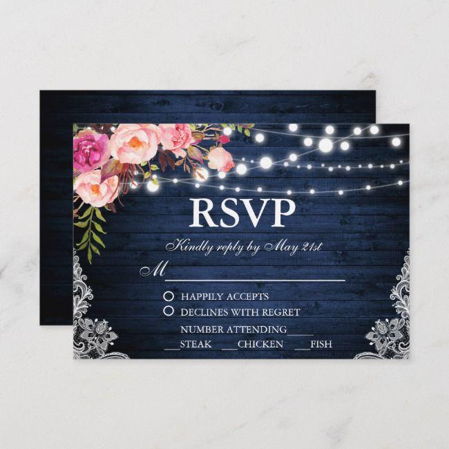 Rustikale Hochzeit Blue Wood Floral Lace RSVP w / Mahlzeit #Ad # gesponsert # Floral # Holz …   – Business Card