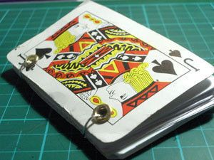 Playing Card Notebook  •  Free tutorial with pictures on how to make a playing card notebook in under 50 minutes